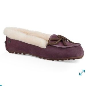 New Women UGG Solana House Slippers Loafers Plum 9